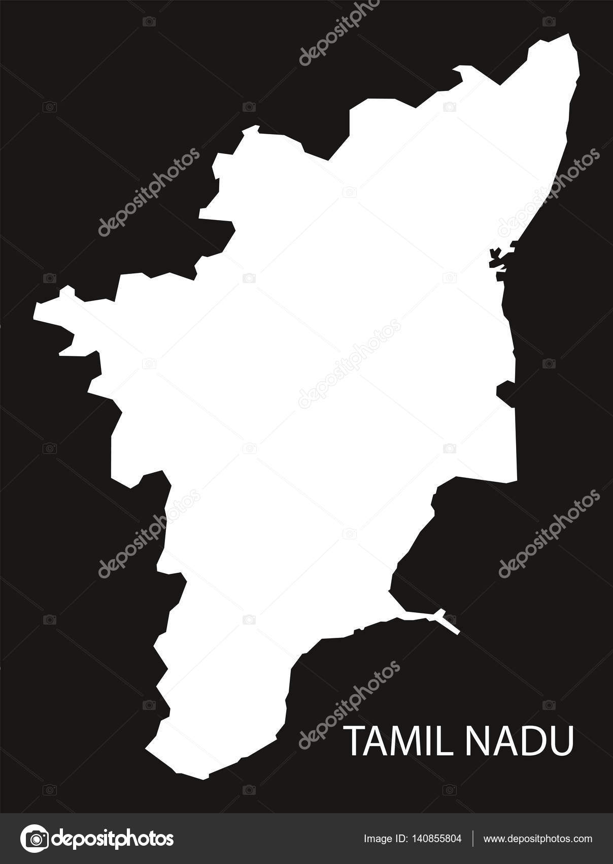 Tamil nadu india map black inverted stock vector ingomenhard tamil nadu india map black inverted stock vector gumiabroncs Image collections