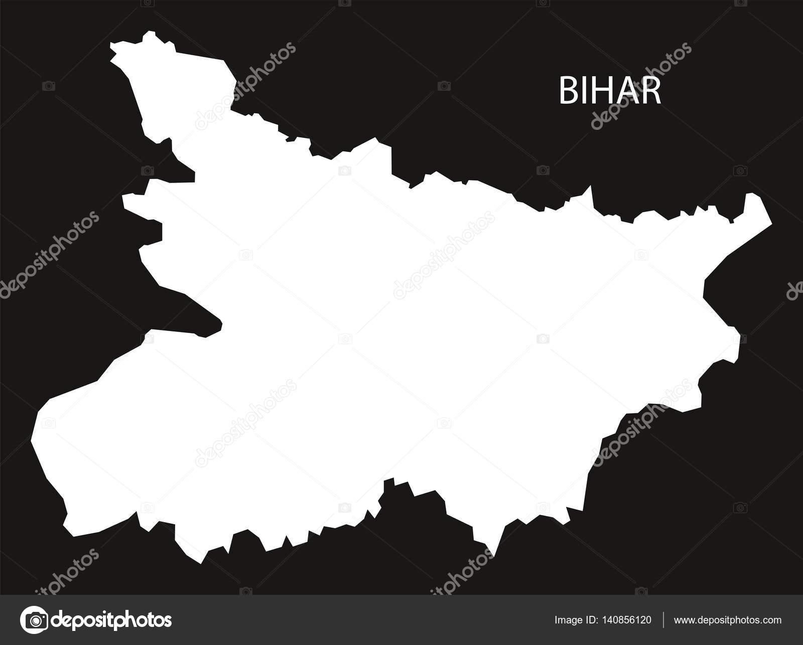Bihar India Map Black Inverted Stock Vector C Ingomenhard 140856120