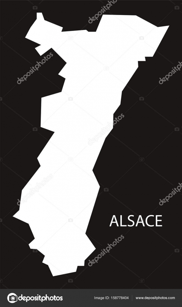 Carte Alsace Vector.Alsace France Map Black Inverted Silhouette Illustration