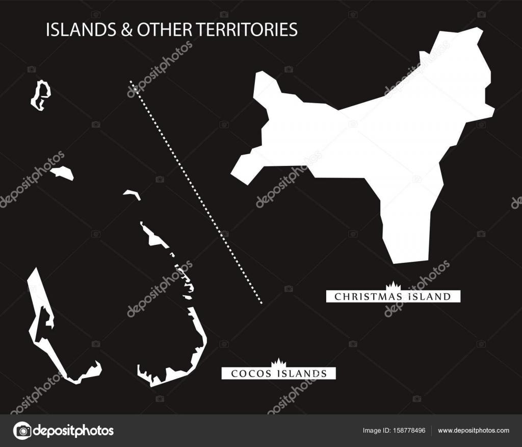 Carte Australie Inversee.Iles Et Autres Territoires De L Australie Carte Noir Tr