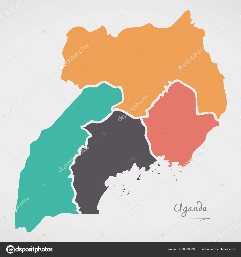 Uganda map with states and modern round shapes stock vector uganda map with states and modern round shapes stock vector gumiabroncs Choice Image