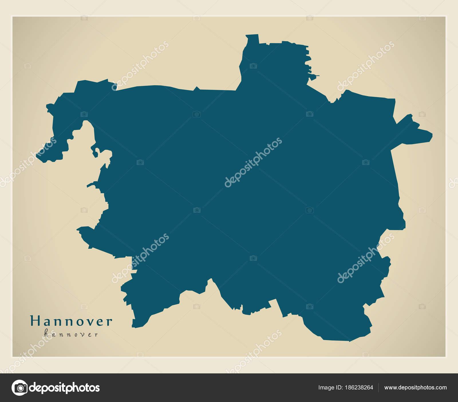 Carte Allemagne Hannover.Carte Moderne Hannover City De L Allemagne De Image
