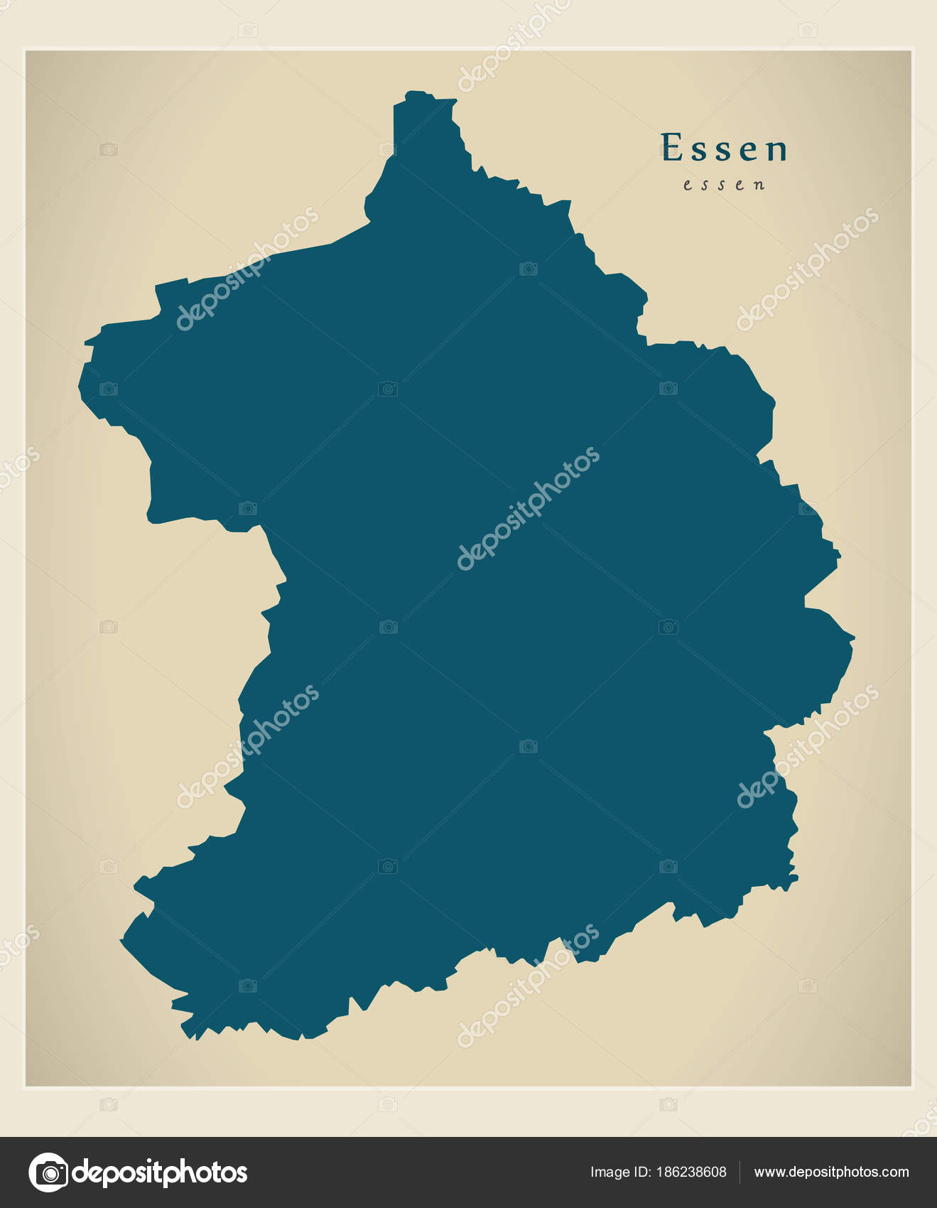 Modern Map Essen city of Germany DE Stock Vector ingomenhard
