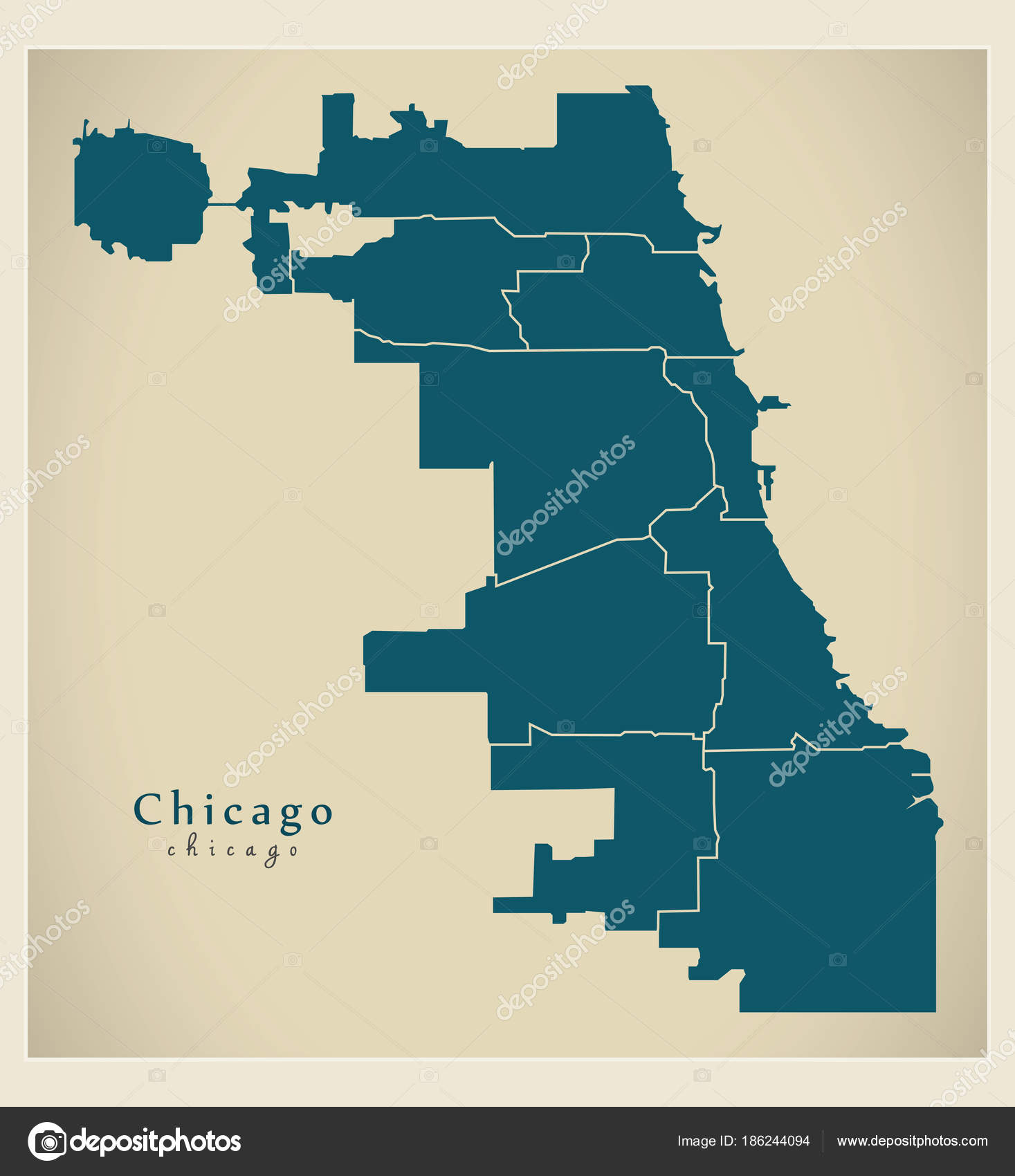 Chicago On Usa Map on