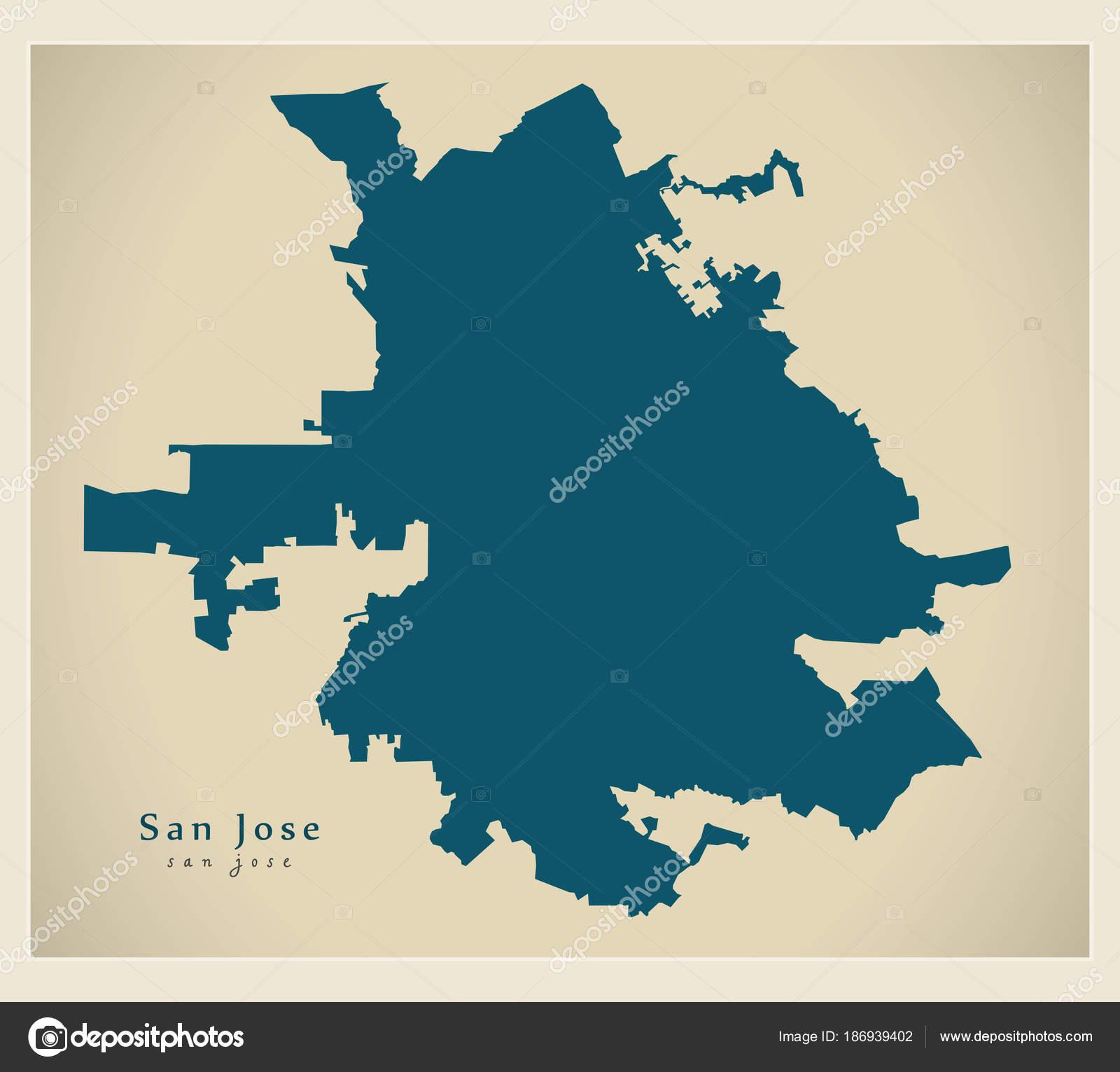 Modern Map - San Jose California USA city map — Stock Vector ... on phoenix scottsdale area map, d.c. metro area map, antioch area map, oxnard area map, bay area map, rogersville shale area map, san antonio, tillamook area map, el paso, winchester mystery house, los angeles, haifa area map, gulfport biloxi area map, longview tx area map, santa cruz, sebring fl area map, glendale area map, san francisco bay area, san diego, san francisco, santa barbara, city of san francisco area map, long beach, elk grove area map, sacramento area map, silicon valley, santa cruz map, sf area map, district of columbia area map, santa clara, palo alto, concord area map, cabo san lucas area map,
