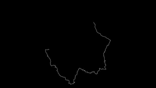 Chihuahua Mexiko státní mapa obrysu animace