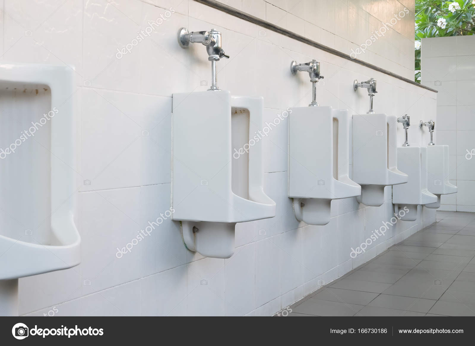 Urinal Tile Wall — Stock Photo © roncivil #166730186