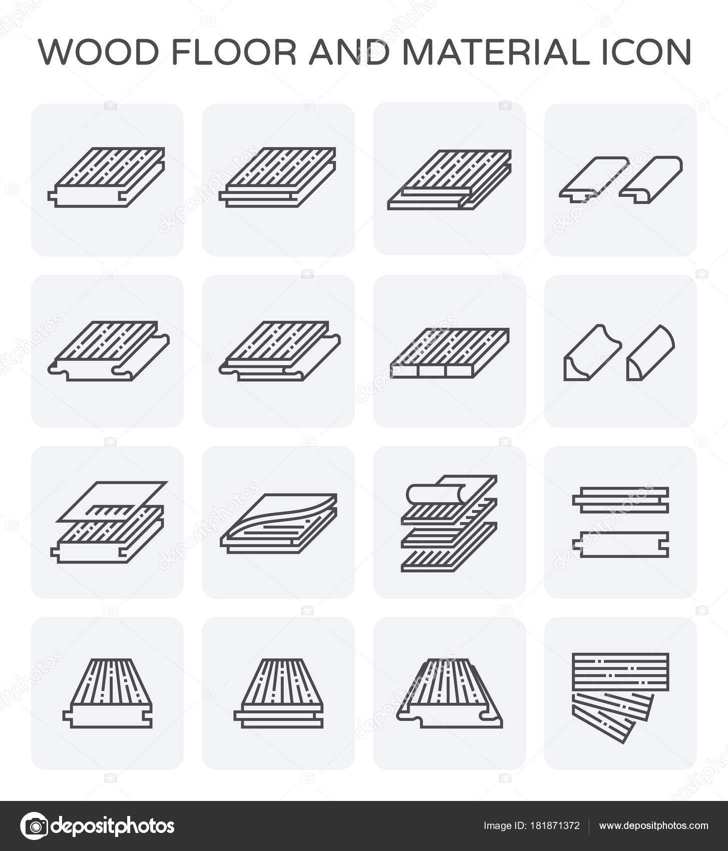 Holzboden Und Material Vektor Icon Set — Stockvektor © roncivil ...