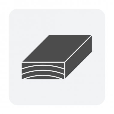 Wood floor material for floor construction industrial work vector icon design.