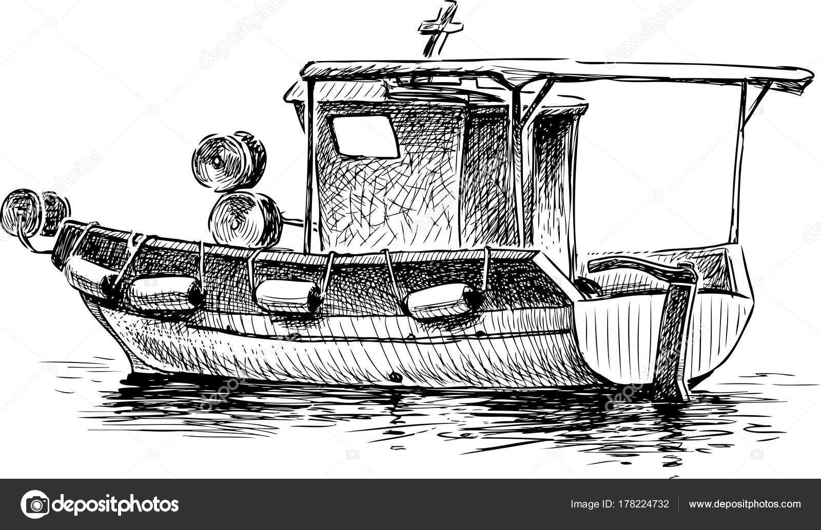 Dibujos Barcos Pesqueros Dibujo Barco Pesquero Griego Pequeño