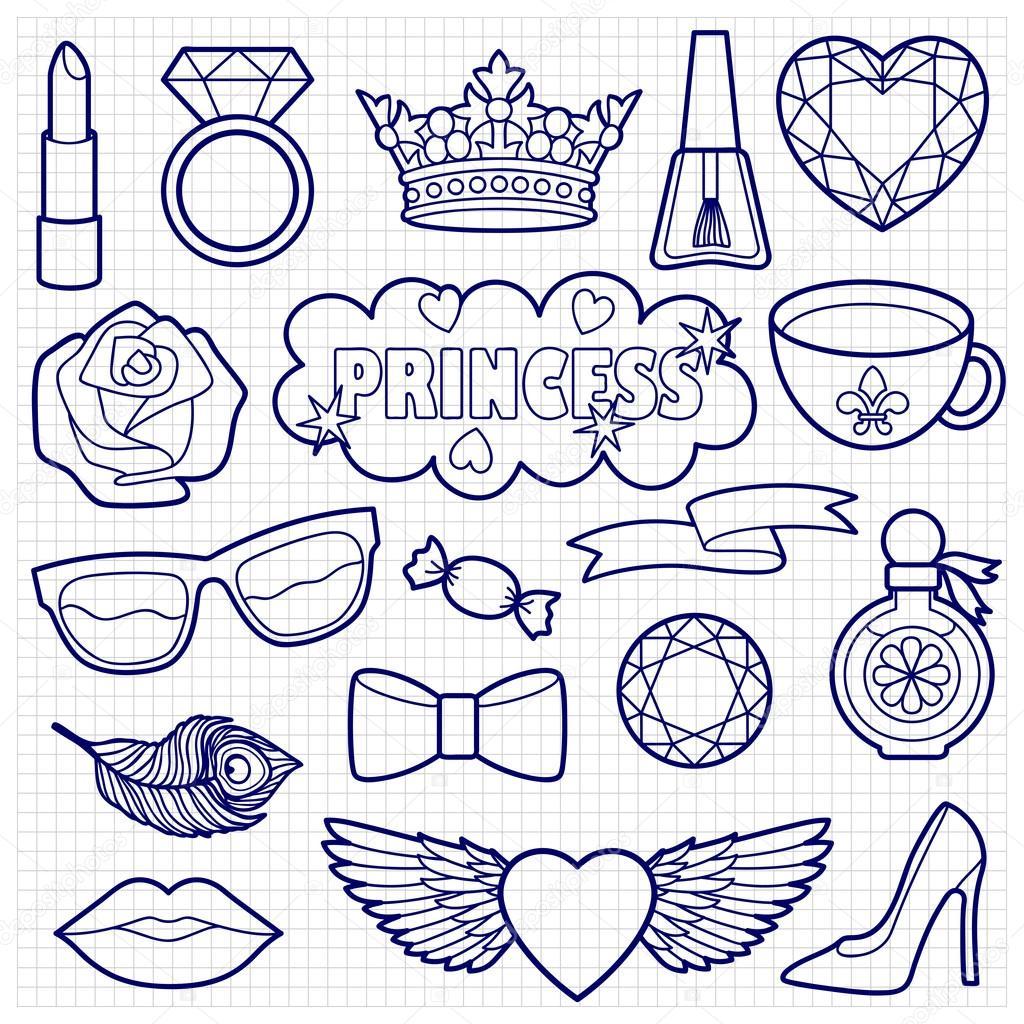 Juego De Princesas Para Colorear. Elegant Anime U Dibujos Para ...