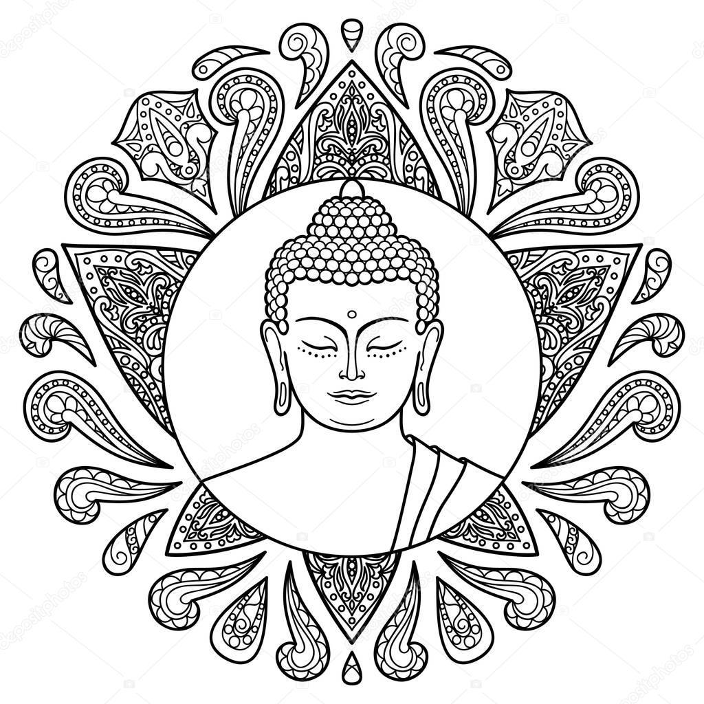 로터스와 부처님 — 스톡 벡터 © kronalux 129925100