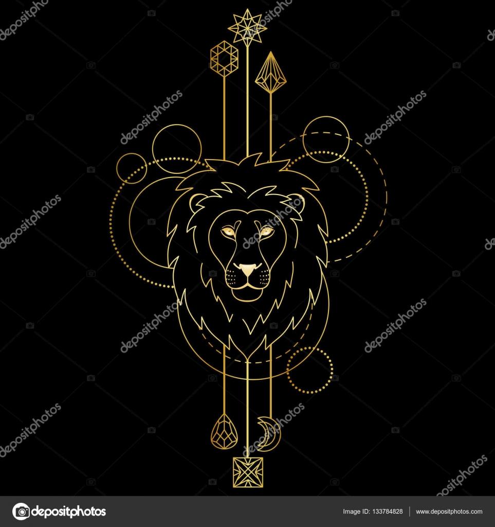 Symbole Geometrique Lion Image Vectorielle Kronalux C 133784828