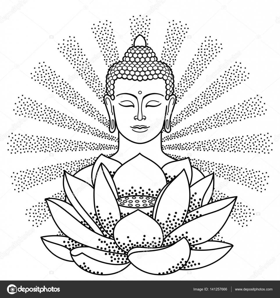 dibujos budas para pintar  buda y lotus con haz de luz