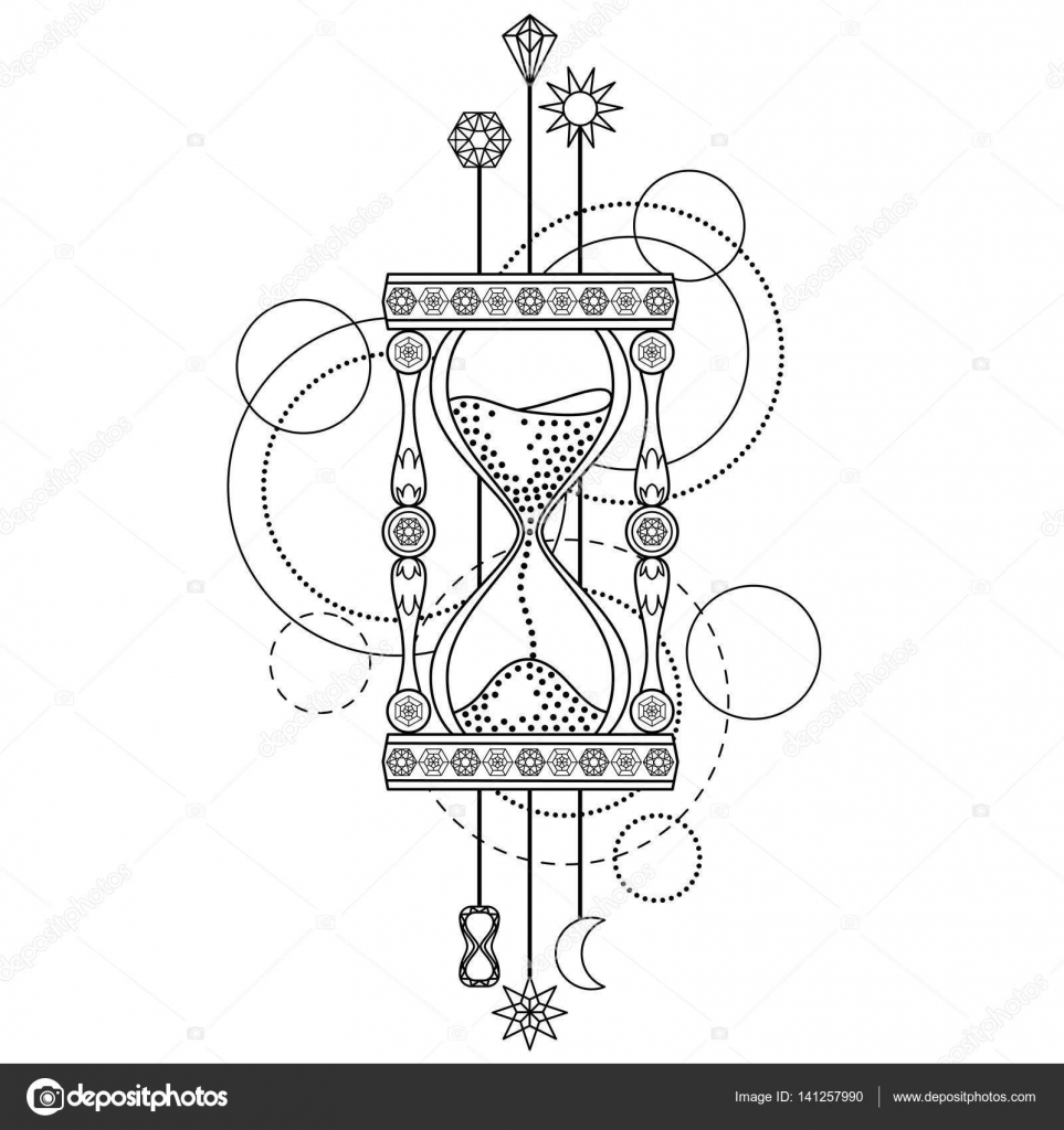 Símbolo Geométrico De Reloj De Arena Vector De Stock Kronalux