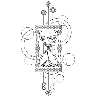 Geometric sandglass symbol