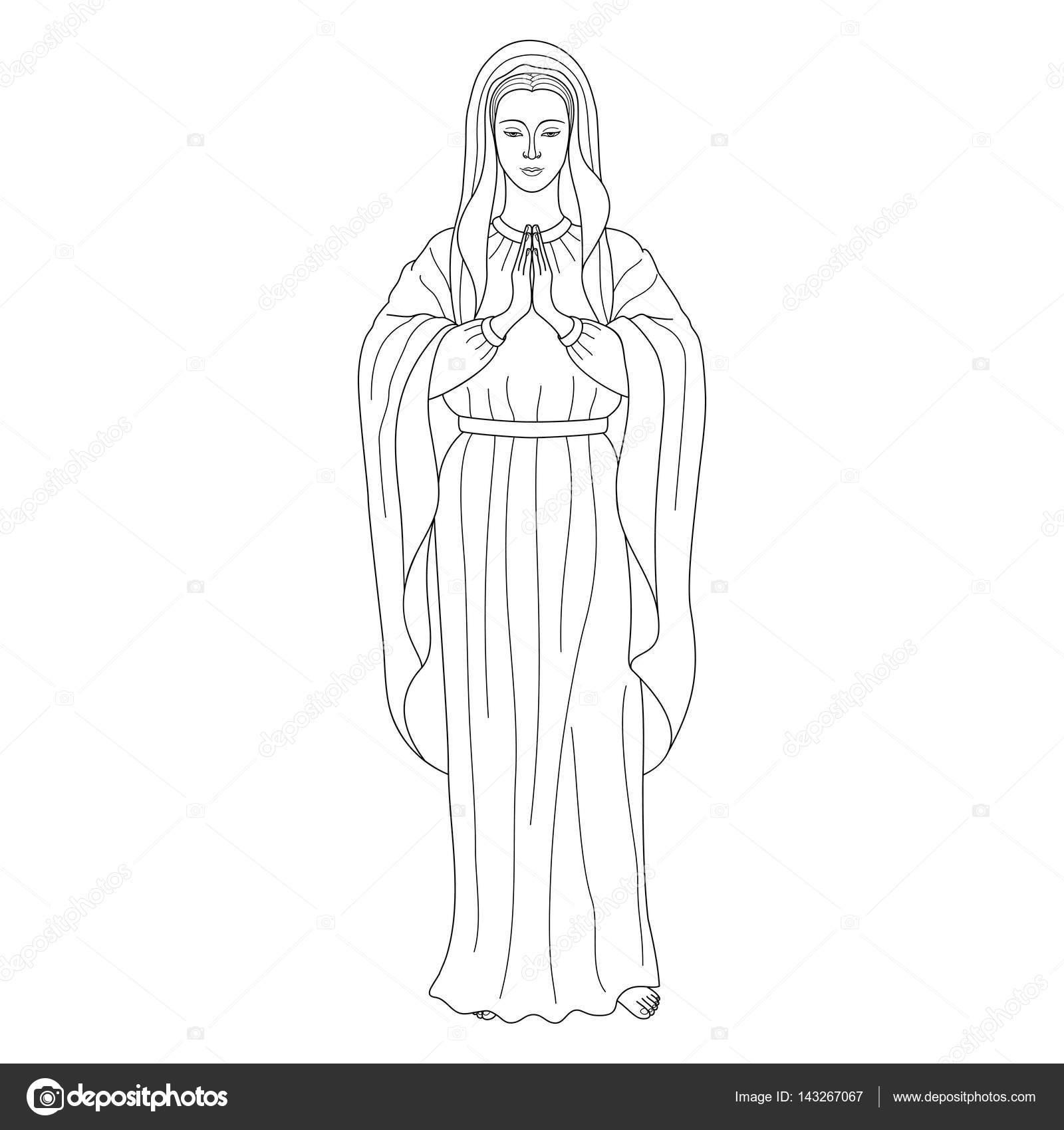 oración Virgen María — Archivo Imágenes Vectoriales © KronaLux ...