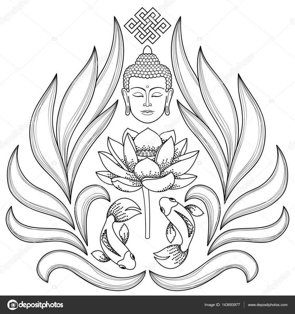 Patrón abstracto Buda — Vector de stock © KronaLux #143693977