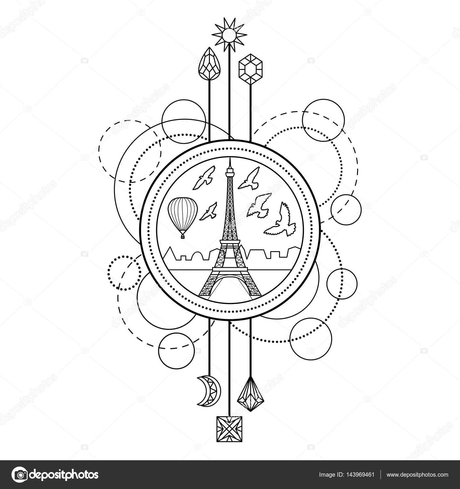 Eiffel Turm symbol — Stockvektor © KronaLux #143969461