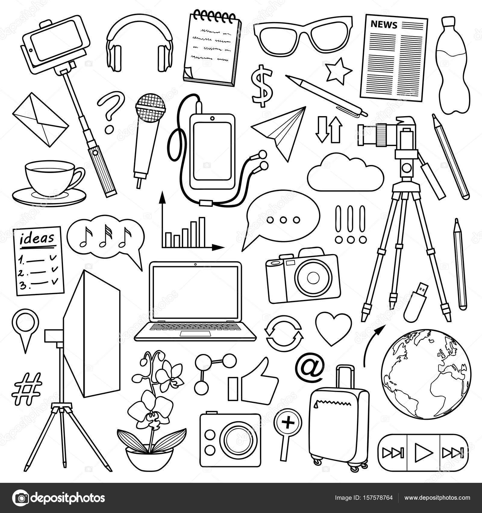 Dibujos Portada De Libros Para Colorear Conjunto Objeto De Blog