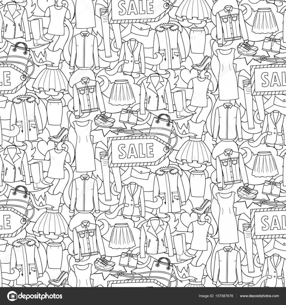 20 prendas de vestir para colorear | Mujer ropa venta de patrones ...