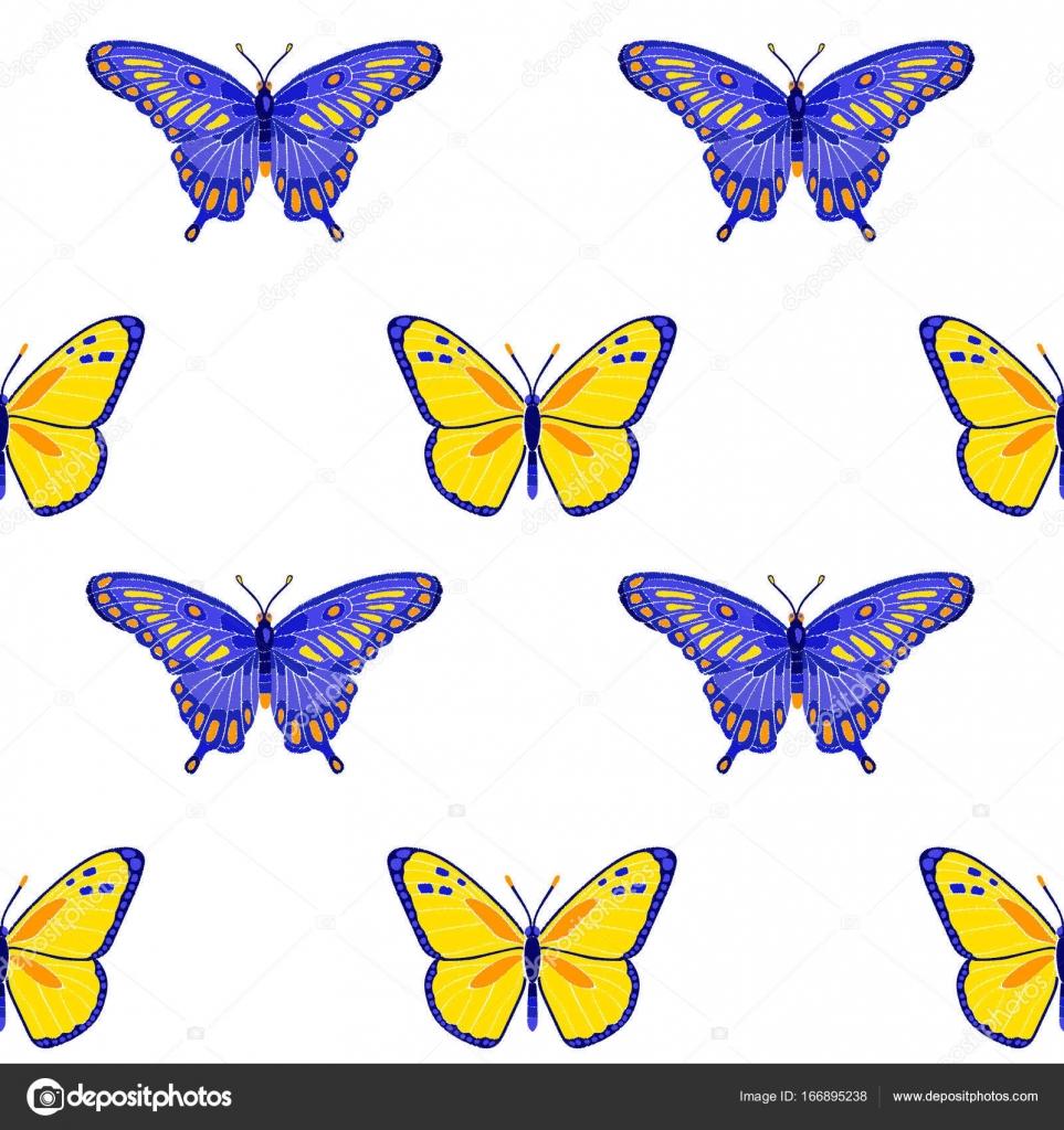 Patrón sin fisuras de rosas y mariposas bordado — Vector de stock ...