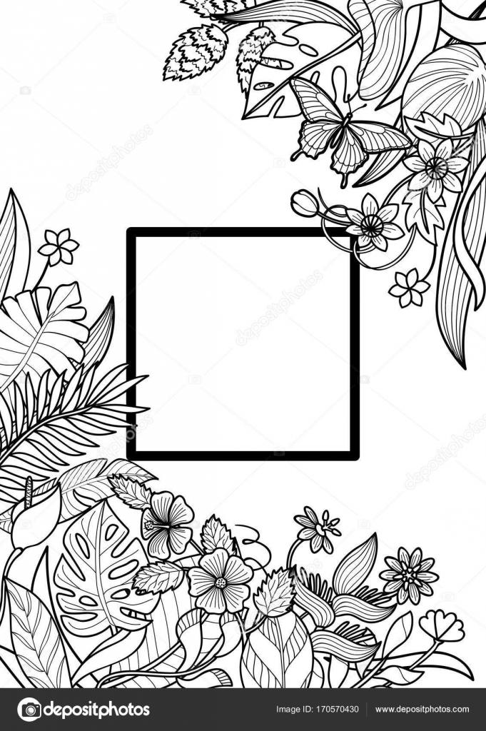 Tropical marco Mock Up — Archivo Imágenes Vectoriales © KronaLux ...