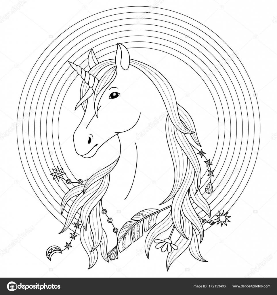 Unicorn Tattoo Met Regenboog Stockvector C Kronalux 172153406