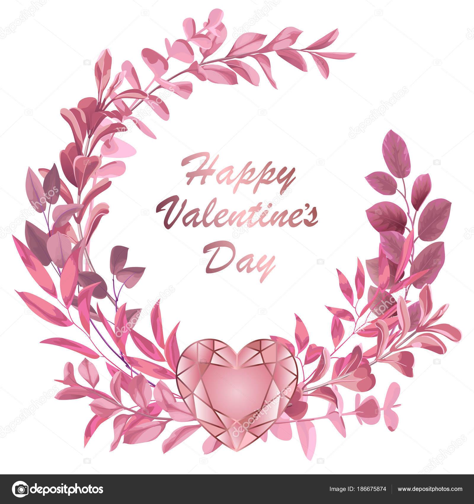 Happy Valentines Day Z Rama Ziolo Grafika Wektorowa C Kronalux