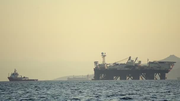 Průmysl přeprava po moři na těžbu ropy stanice pohled
