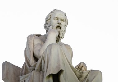 Statue of the Philosopher Socrates on white