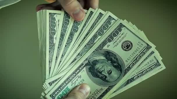 Close-Up Businessman Count Hundred Dollar Bills