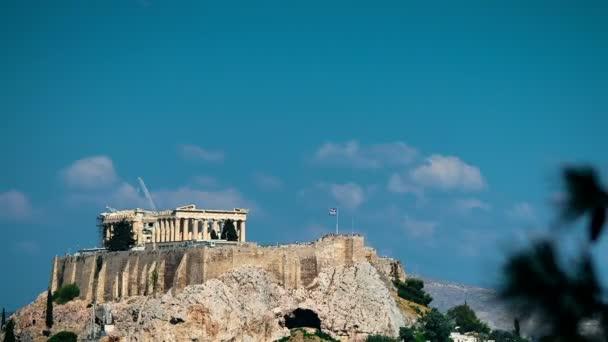 The Parthenon Ancient Temple top on Hill Acropolis