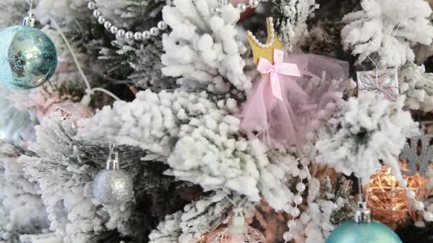 snowflake decoration on a christmas tree