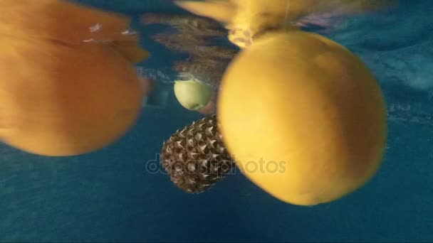 Ripe fruits are immersed in pure water
