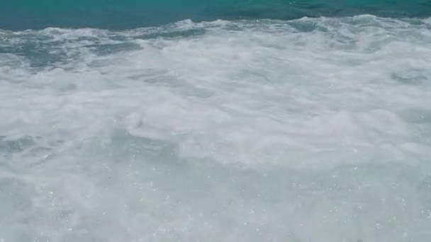 Strong storm sea wave. Slow motion