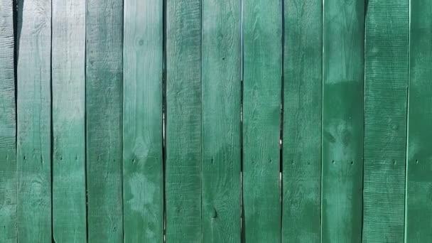 pozadí textura plot z dřevěných prken malovaných zelenou barvou
