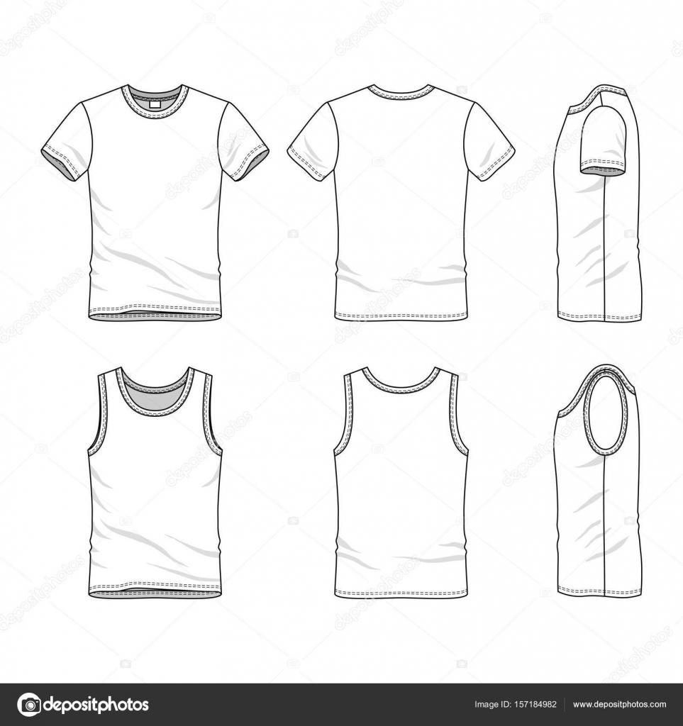 templates of t shirt and vest stock vector aunaauna2012 157184982