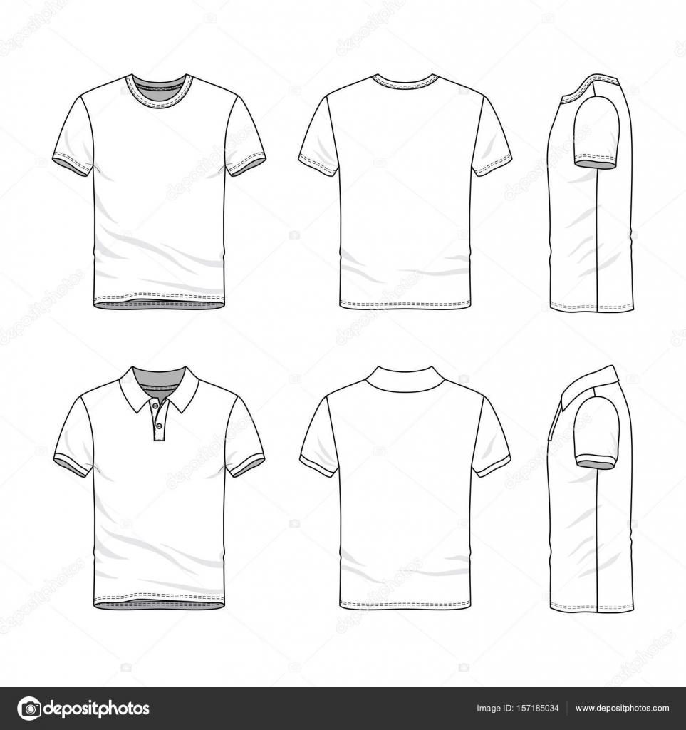Vorlagen für t-Shirts und Polo-shirt — Stockvektor © aunaauna2012 ...