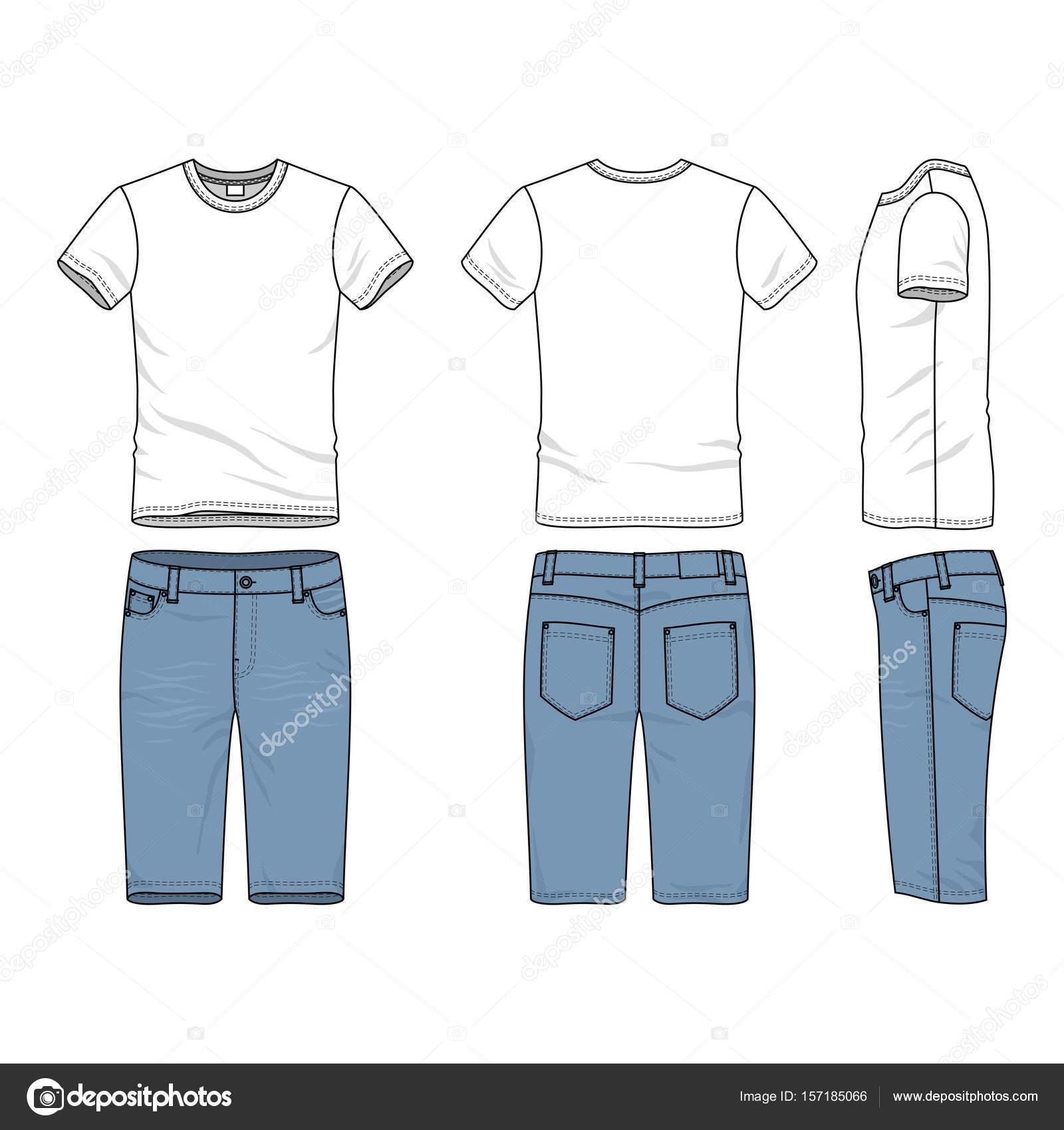 outlet store 27f6b 87e53 Set di vestiti di jeans e t-shirt. — Vettoriali Stock ...
