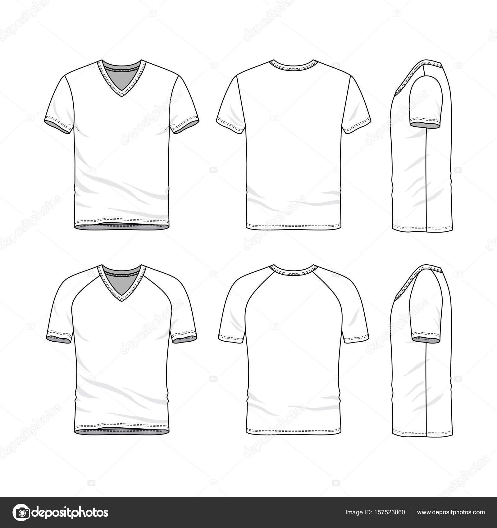 Vector Templates Of Blank T Shirt Stock Vector Aunaauna2012