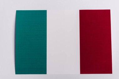 Top view of Italian flag on white background, coronavirus concept stock vector