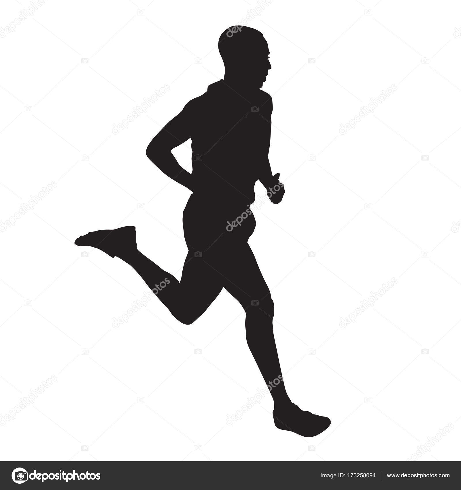 Running man silhouette vector