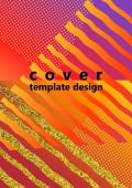 Trendy abstraktní design světlých pruhů a trojúhelníků na pozadí barevného gradientu. Obchodní šablona pro tiskové výrobky. Vektorová ilustrace