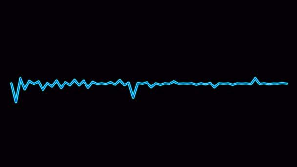 Minimalistisches Waveform Audio. Abstrakte Schallwellen Hintergrund. 2D gerenderte Looping-Animation