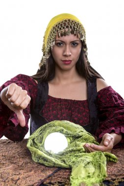 Fortune Teller on a White Background