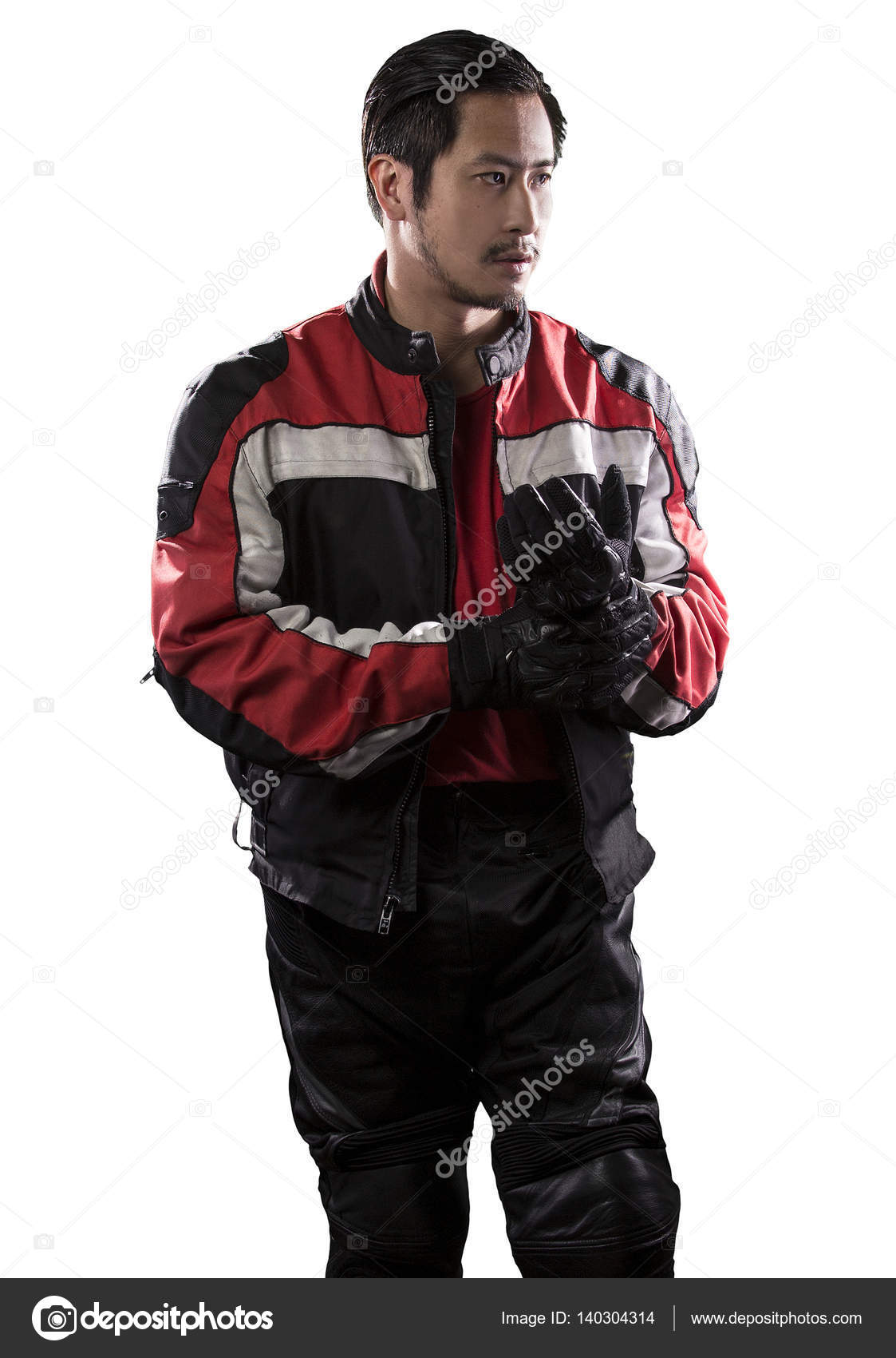 Race Car Driver Or Biker On A White Background Stock Photo Image By C Innovatedcaptures 140304314