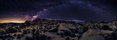 View of Milky Way Galaxy in a Desert Landscape