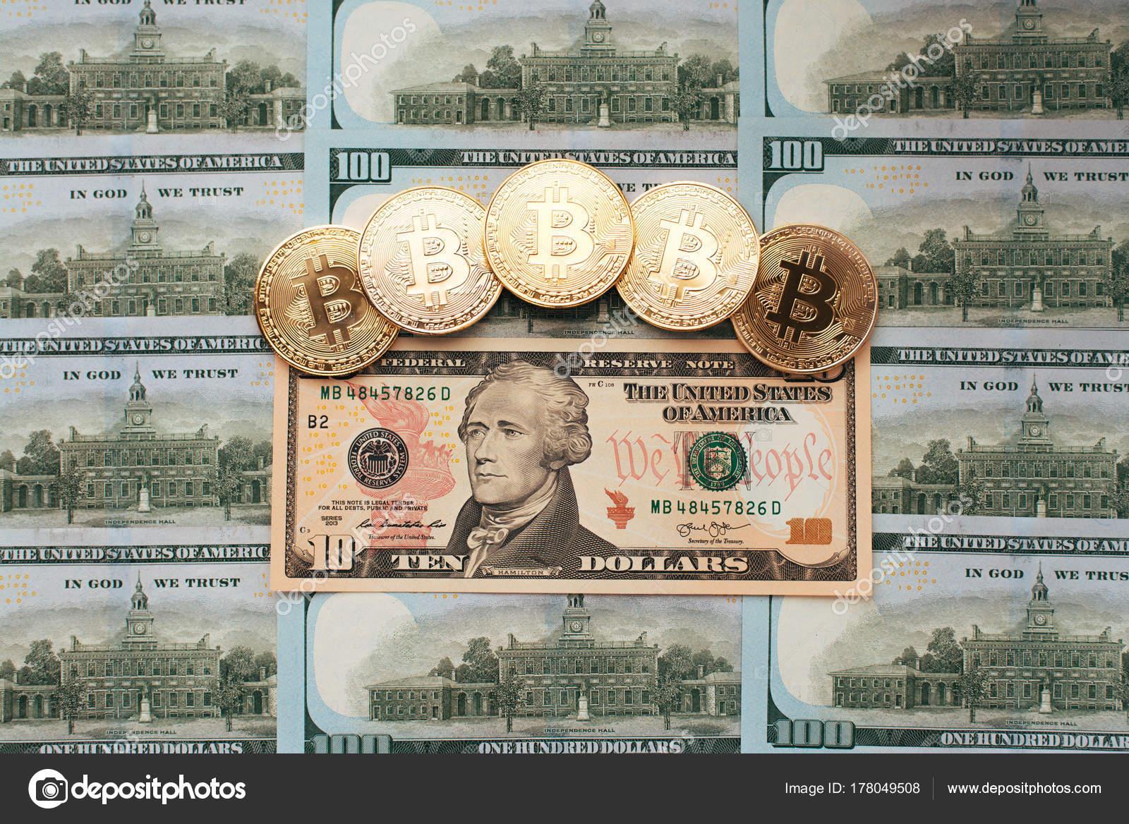 Bitcoin Münzen Gibt Es Geld Auf Tabelle Eine Rechnung Von 10