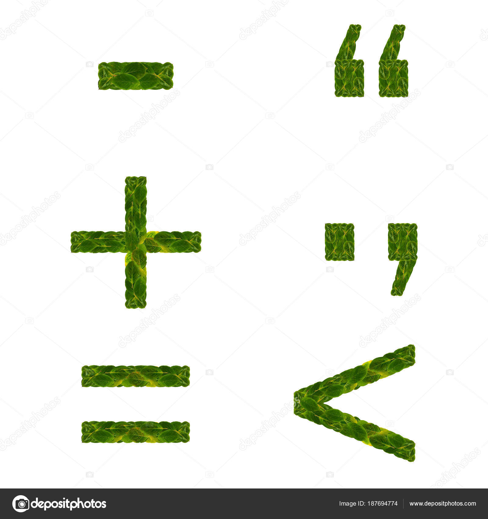 Plus And Minus Symbol Dot And Comma Punctuation Characters More